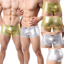 Sexy Mens Underwear Boxers Trunks Shining Spandex Shorts Boxer Brief Underpants