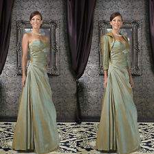 Elegant A-Line Floor-Length Taffeta Mother of the Bride Dresses Party Dresses