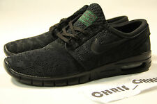 NIKE SB STEFAN JANOSKI MAX BLACK/PINE GREEN 631303 003 LOT SKATE RUNNERS TRAINER