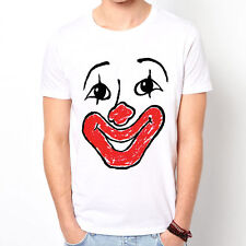 Clown Face Design graphic cute sweet party gift  white t-shirt