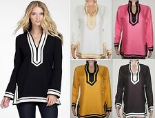 New Women's Clothing Top Tunic Dress Long Sleeve Embroidery Cotton Size S M