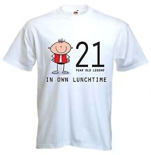 21 YEAR OLD LEGEND T-SHIRT - 21st Birthday Gift Present - Sizes Small to XXXL