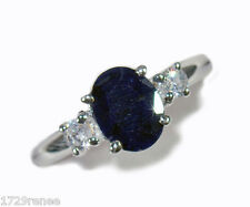 GENUINE ROUGH CUT FACETED 2.25ctw SAPPHIRE RING IN .925 STERLING SILVER