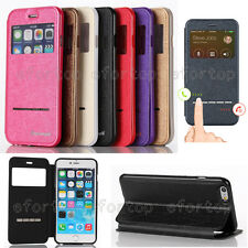 Fashion Flip S-View Window Stand PU Leather Smart inside Case Cover For Samsung