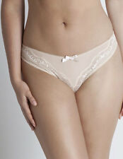 Womens Lepel Lyla Nude Lace with Polka Dot Bow Detail Ladies Brazilian Brief