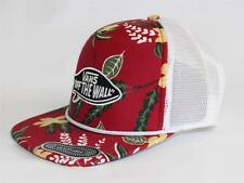 Vans Off The Wall Surf Patch Trucker Hat Mens Red Tropical Snapback New NWT OSFM