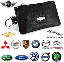 Luxury Cowhide Auto Car Logo Remote Key Cases Bag Holder Fit keychain for Gift