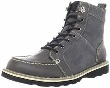 Stacy Adams Mainline Men's Gray Leather and Synthetic Ankle Boots #53376-020