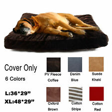 Zipper Cover FOR Large Dog Pet Bed Mat Cushion Do It Yourself Comfort Material N
