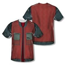 BACK TO THE FUTURE FUTURE JACKET COSTUME (FRONT & BACK) T SHIRT S M L XL 2XL 3XL