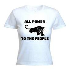 BLACK PANTHER PARTY WOMEN'S T-SHIRT - Malcolm X Civil Rights - Choice Of Colour