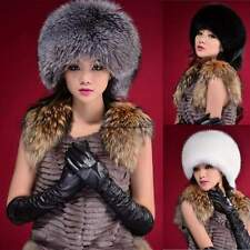 NEW WOMENS LADIES CAP LUXURY FAUX FUR RUSSIAN COSSACK WINTER WARM HAT CaF8