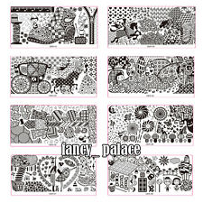 NEW Mixed Design Nail Art Stamping Stamp Stencil Template Plates Tool DER01-10