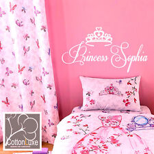 Catherine Lansfield Kids Glamour Princess Duvet Cover Set wall sticker girls bed