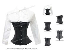 26 Steel Double Boned Waist Training Faux Leather Underbust Corset #8043B(FL)