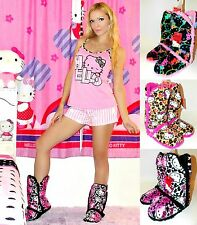 "NWT Sanrio Hello Kitty Plush 13"" Slipper Boots for Women, 5/6, 7/8, 9/10"