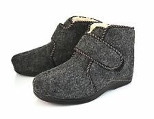 Men-Women Felt Velcro Slippers Shoes Boots Sheep Wool Sheepskin size 3.5-11 SALE