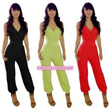 Sexy Womens Lady V Neck Bodycon Jumpsuit Romper Trousers Clubwear Bandage Dress