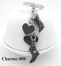 New Fashion Hearts And Boots Metal Key Chain Keyring Hot Sale Gift Free Shipping