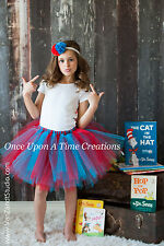 Dr Seuss Birthday Theme Tutu Baby Toddler Girls Teen Adult Halloween Costume