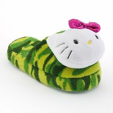 Hello Kitty® Camouflage Plush Slippers - Girls- Size (11-12)