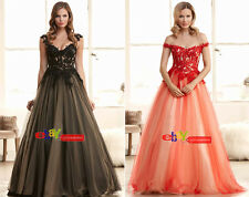 2015 Sexy Long Applique Evening Formal Prom Party Cocktail Dresses Wedding Gown