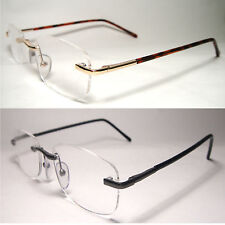 Rimless Man Woman Clear Lens Reading Glasses Magnify Power Strength Frames- D916