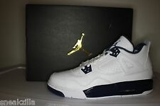 Nike Air Jordan Retro IV 4 LS COLUMBIA Legend Blue Navy Remastered Men&GS 4y-15