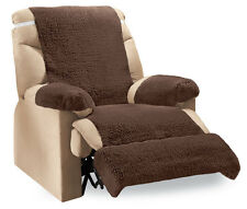 Collections Etc Recliner Chair Fleece Furniture Covers - Set Of 4
