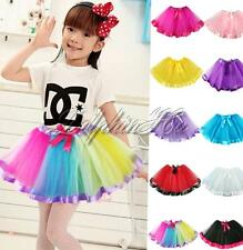 New Girls Kids Toddler Cute Pettiskirt Tutu Skirt Party Ballet Dress Dance Wear