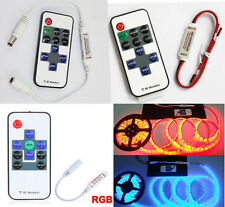DC5-24V Mini RF Wireless Dimmer Remote Controller for Single Color/RGB LED Strip