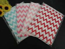 """100PC Food Safe Candy Snack Chevron print Treat Paper Bags Party Favor 7""""x 5"""""""