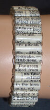 Dictionary Half-Inch Tube Paper Bead Stretch Bracelets in 3, 12 or 24 Lots