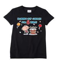 BLOWING OUT CANDLES FOR 6 YEARS BOYS T-SHIRT 6th Birthday Present Gift Party