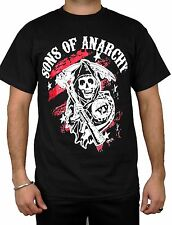Sons of Anarchy T-shirt motorcycle club Reaper Crew Redwood original Black Color