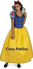 Deluxe Ladies Disney Snow White Princess Fancy Dress Up Halloween Costume 8-16