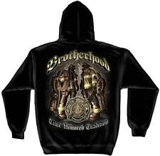 FIREFIGHTER HOODIE TIME HONORED TRADITION BROTHERHOOD FIREMAN SWEATSHIRT