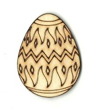 Easter Egg Engraved  Unfinished Wood Shapes Supplies Laser Cut Outs DIY 011