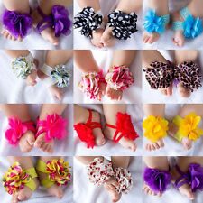 Baby Newborn Infant Toddler Barefoot Socks Sandals Shoes Toe Blooms Foot Flowers