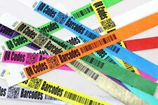 QR CODE/BARODE Printed TYVEK WRISTBANDS for Security/Events/Festivals/Shows etc