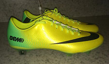 NEW Mens 9 NIKE Mercurial Vapor IX FG Yellow Lime Soccer Cleats Futball Boots