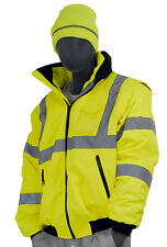 Majestic 75-1381, Transformer 8-in-1 Hi-Viz Lime Green Class 3 Bomber Jacket