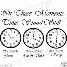 In These Moments Time Stood Still Wall Quote Stickers Wall Decal