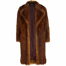 RIVER ISLAND *Copper Faux Fur Coat* NEW_SIZE_S_M_L