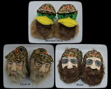 NEW Mens A&E DUCK DYNASTY Willie Bearded Duck Uncle Si Character Camo Slippers