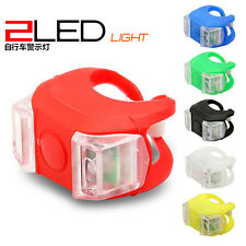 NEW Bike Bicycle Silicone Frog Head Rear Warning Flash Light LED Bright Safety