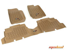 Rugged Ridge Floor Liner Kit, Tan, 07-15 Jeep 4-Door Wrangler # 13987.04