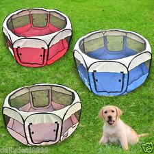 """Pet Playpen 45"""" Exercise Puppy Dog Pen Kennel Folding Design Easy Storage Crate"""