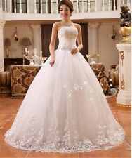 Beaded Bride White Ball Strapless Sleeveless Lace up Bridal Gown Wedding Dress