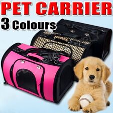Pet Carrier Dog Cat Puppy Folding Travel Carry Bag Portable Cage Crate 3 COLOURS